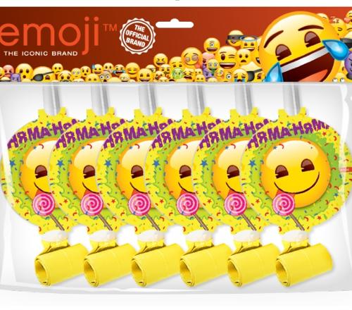 Языки Смайл Emoji Желтый 6 штук