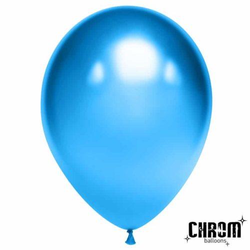 Шар 30 см Синий Хром