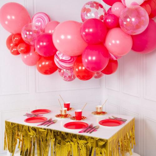 Гирлянда из шаров для украшения Красный и Розовый