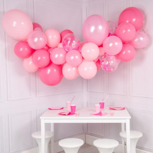 Гирлянда из шаров для украшения Розовый