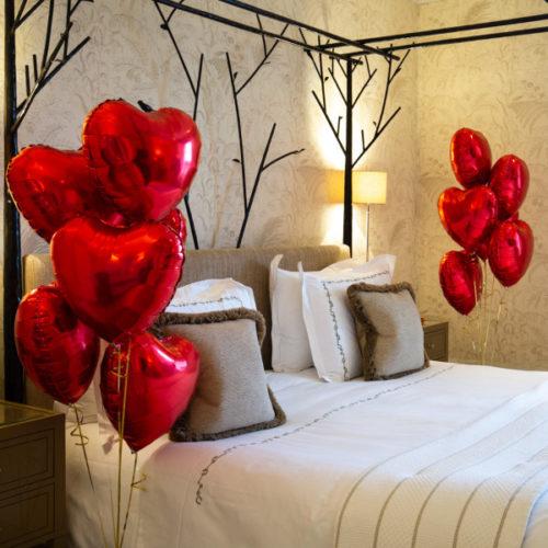 Комплект Фонтанов из 10 Красных сердец для украшения Комнаты