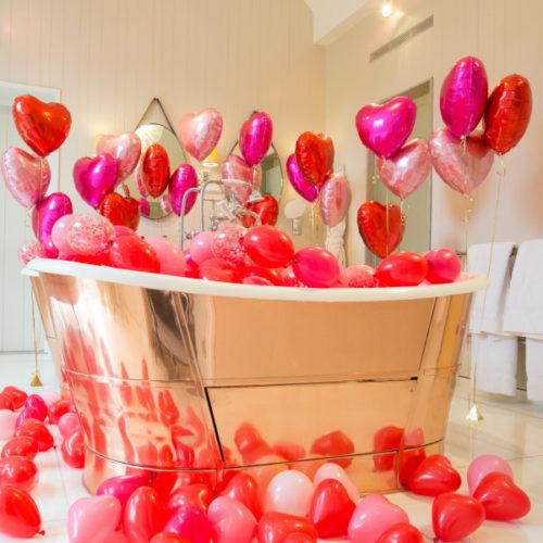 Комплект шаров Купание в сердечках