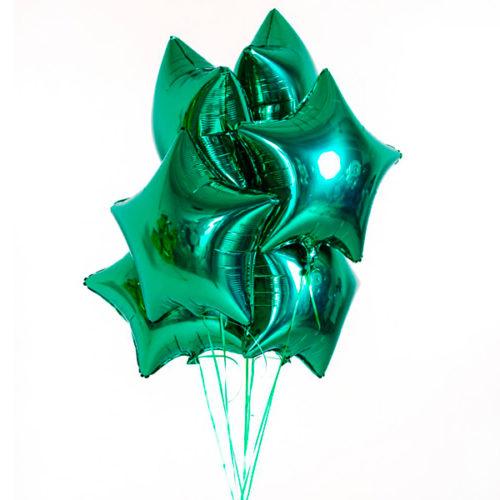 Связка из шаров на 23 февраля Зеленый