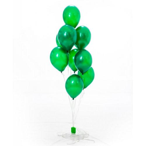 Фонтан из шаров Зеленые Круглые 10 штук