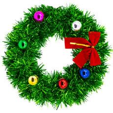Венок Рождеств мишура подвесной 25 см