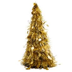 Елка мишура настольная золотая 26 см