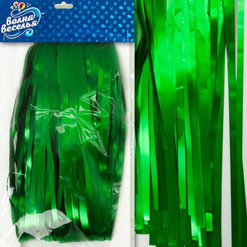 Занавес Дождик Зеленый Матовый 100 х 200 см