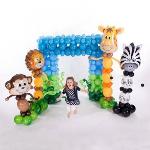 Комплект для оформления праздника Животные из шаров
