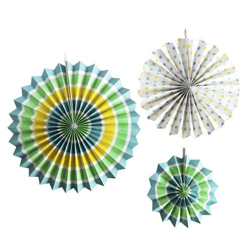 Набор бумажных фантов 20 - 28 - 38 см Голубое ассорти 3 штуки