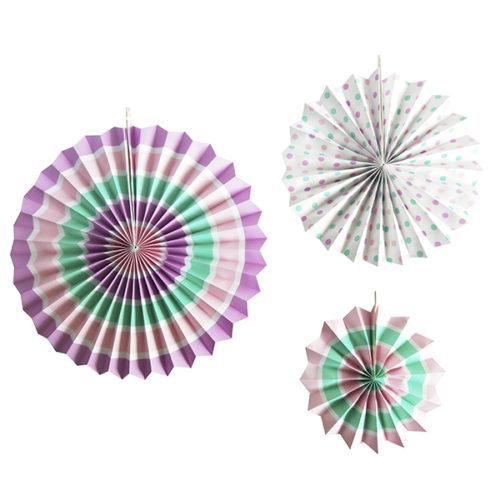 Набор бумажных фантов 20 28 38 см Розовое ассорти 3 штуки