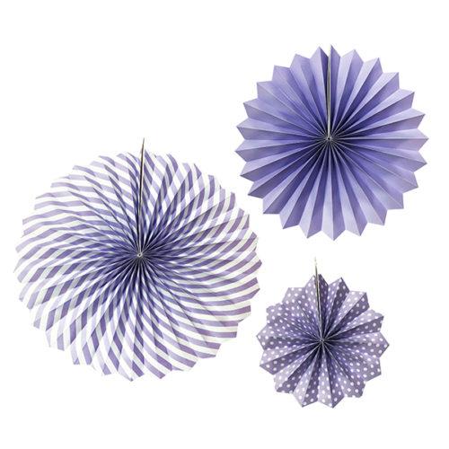Набор бумажных фантов 20 - 30 - 40 см Фиолетовый 3 штуки