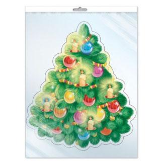 Плакат Новогодняя елочка 25 х 23 см