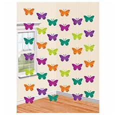 Гирлянда вертикальная Бабочки Весенние 2,1 м 6 штук