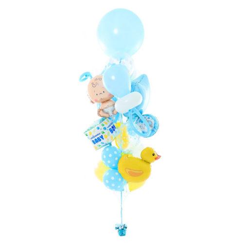 Фонтан из шаров на Рождение Малыша Большой