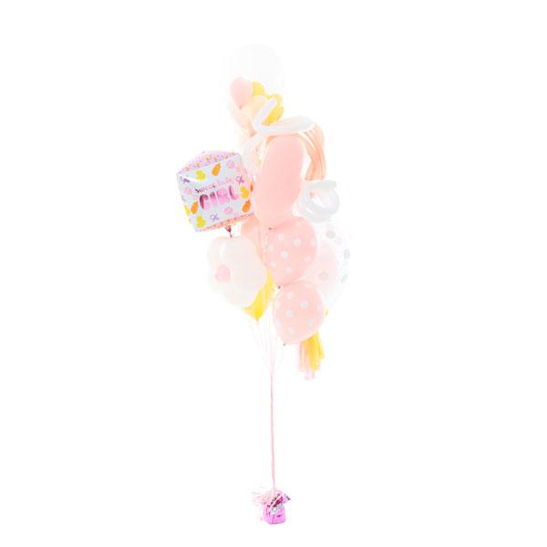 Фонтан из шаров на Рождение Малышки Мини