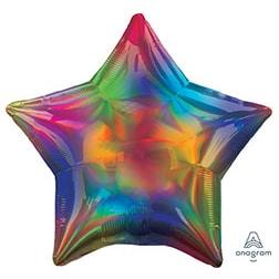 Шар 46 см Звезда Переливы Радуга