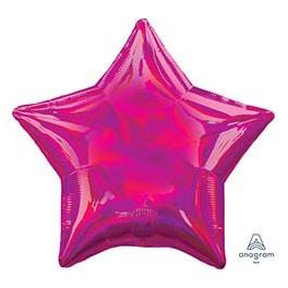 Шар 46 см Звезда Переливы Magent Фуксия