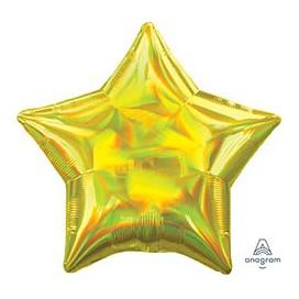 Шар 46 см Звезда Переливы Yellow Желтый