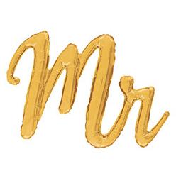 Шар 99 см Фигура MR золотая