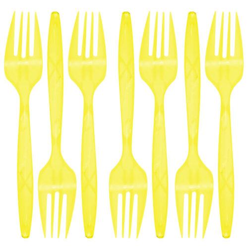 Вилки Желтый 24 штуки