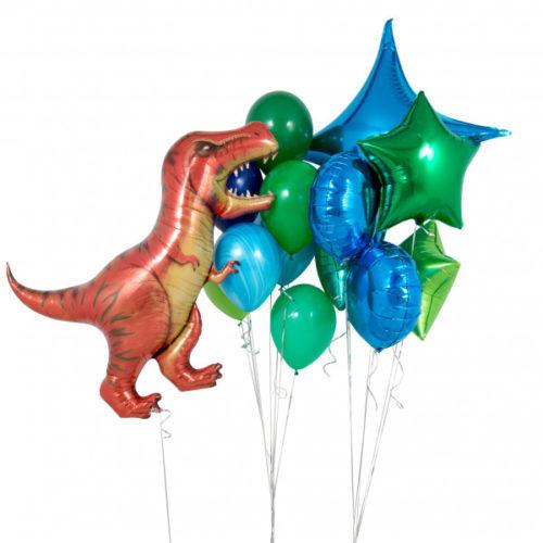 Комплект шаров с Тиранозавром