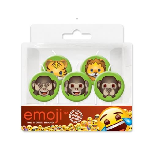 Свечи Джунгли Emoji 7 см 5 штук