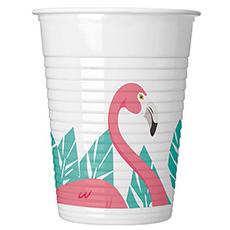 Стакан пластиковый 200 мл Фламинго 8 штук