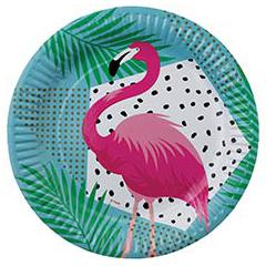 Тарелка 23 см Фламинго 6 штук