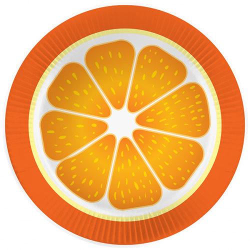 Тарелки 18 см Апельсин 6 штук