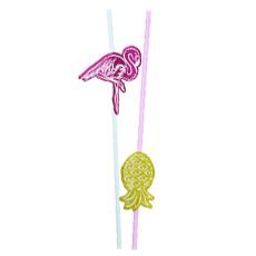 Трубочка для коктейля Гаваи Фламинго 6 штук