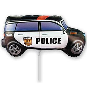 Шар 33 см Мини-фигура Машина Полиция
