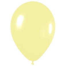 Шар 30 см Макарунс Светло-желтый Пастель
