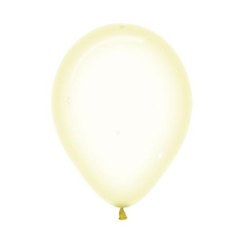 Шар 30 см Макарунс Хрустально-желтый Пастель