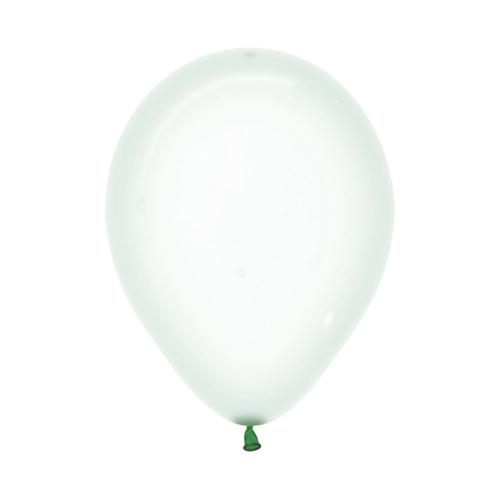 Шар 30 см Макарунс Хрустально-зеленый Пастель