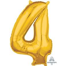 Шар 66 см Цифра 4 Золото