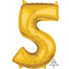 Шар 66 см Цифра 5 Золото