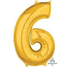 Шар 66 см Цифра 6 Золото