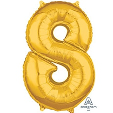 Шар 66 см Цифра 8 Золото
