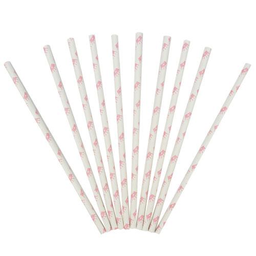 Трубочки для коктейля Короны розовые 12 штук