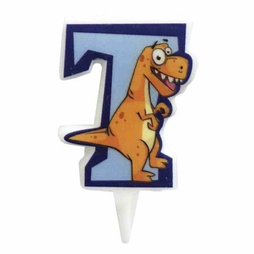 Свечи цифры для торта 7 Динозавр 5 см