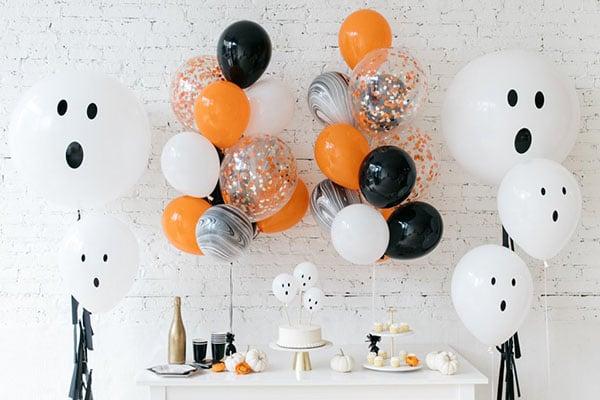Большие шары и наборы для фотосессии на Хеллоуин