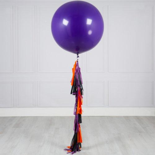 Большой шар Фиолетовый с гирляндой Тассел Ассорти