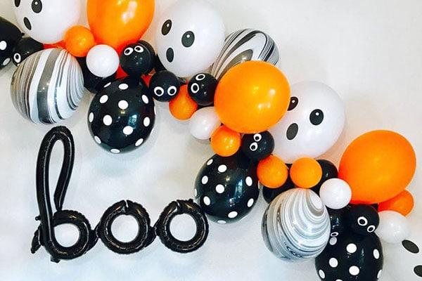 Гирлянды и Арки из шаров на Хеллоуин