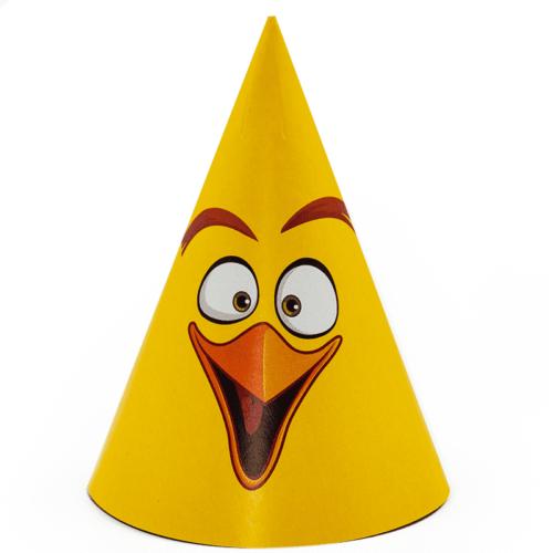 Колпаки Angry Birds Желтый 6 штук
