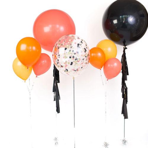 Комплект больших шаров с Гирляндой и Фонтаны
