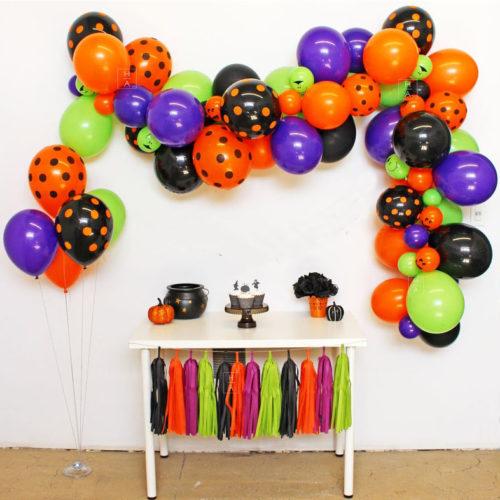 Комплект для украшения Яркий Хеллоуин с гирляндой