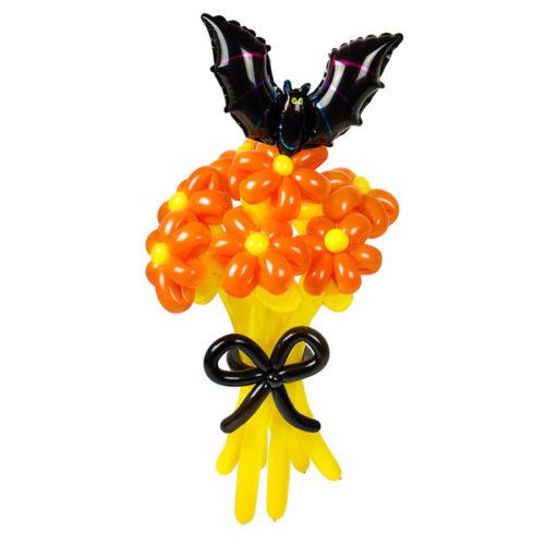 Летучий букет из воздушных шаров на Хеллоуин