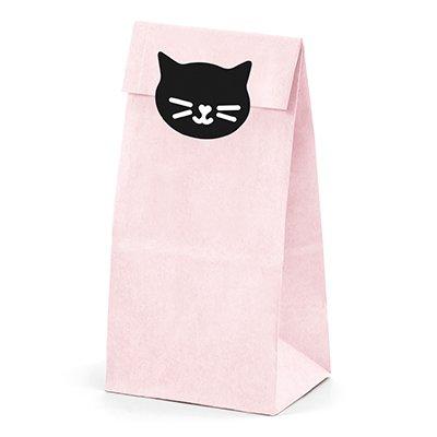 Пакеты для угощений Кошка 18 см 6 штук