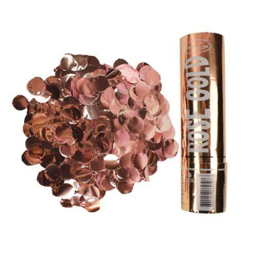 Пневмохлопушка Rose Gold конфетти 20 см