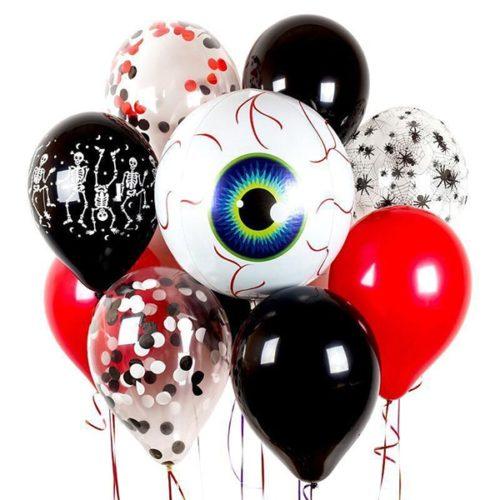 Связка из воздушных шаров на Хеллоуин Большой глаз